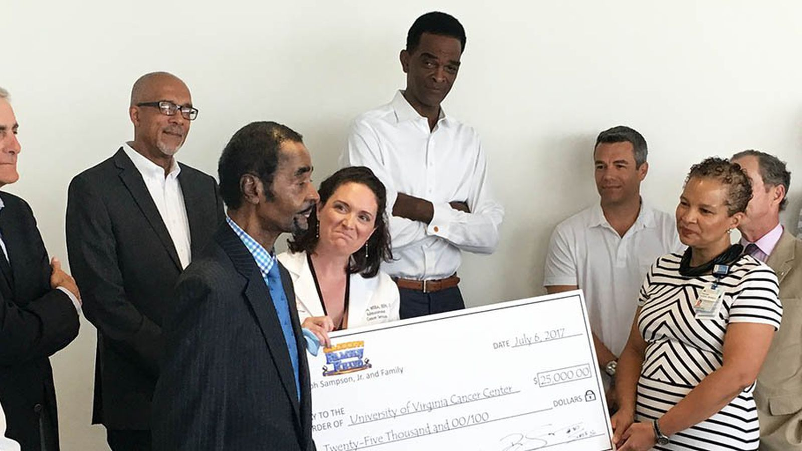 Legendary Ralph Sampson donates his Family Feud winnings to UVA