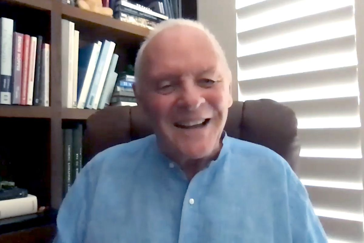 In this screengrab, Anthony Hopkins speaks at the special presentation of THE FATHER at AFI FEST presented by Audi on October 20, 2020 in Various Cities.