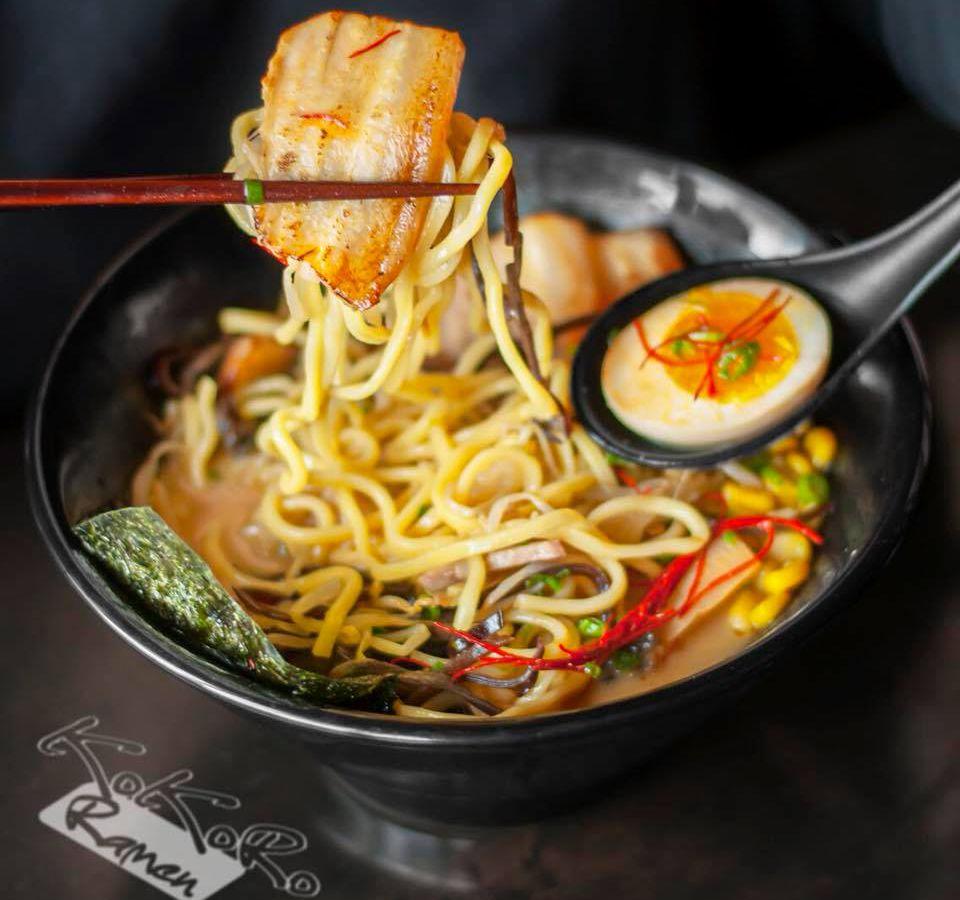 """<span data-author=""""-1"""">Chashu pork in miso ramen at Kokoro Ramen </span>"""
