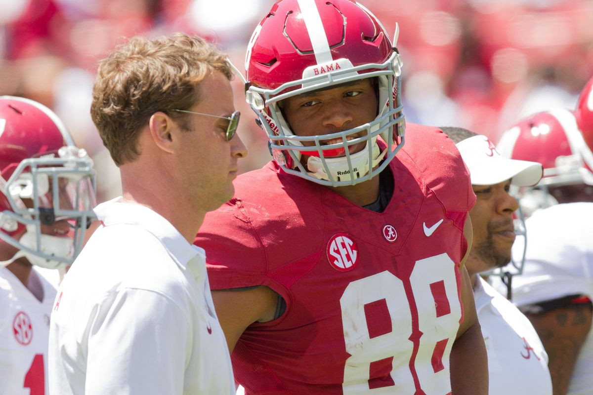 """""""Hey, you know I'm allowed to catch the ball, right, coach?"""" - O.J. Howard"""