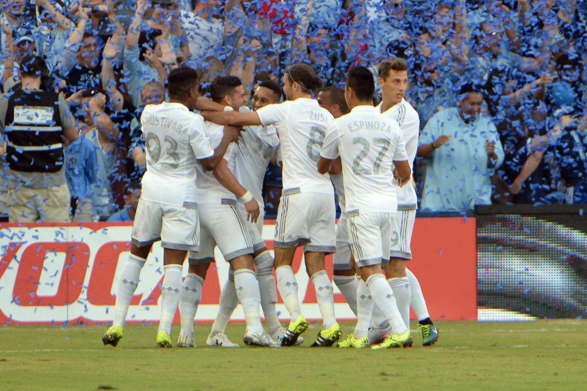 Kansas City celebrated an early Dwyer goal
