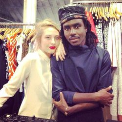 Dev Hynes aka Blood Orange (right) entertained partygoers with throwback beats.