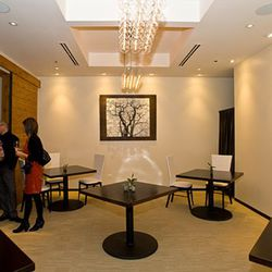 The intimate private dining room