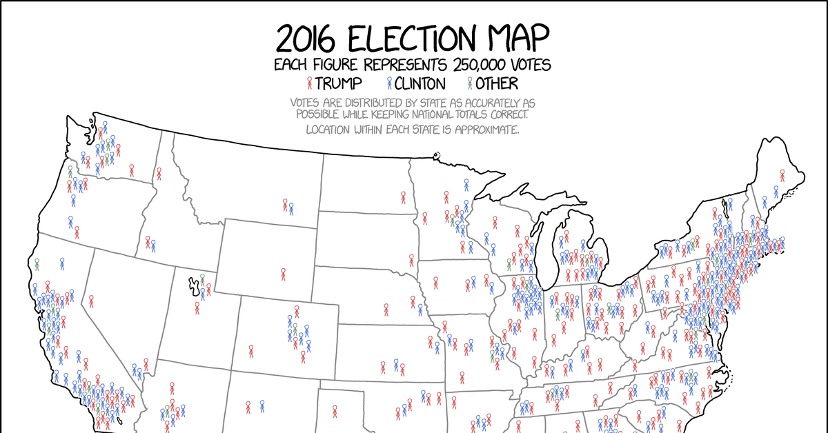 This might be the best map of the 2016 election you ever see vox gumiabroncs Image collections