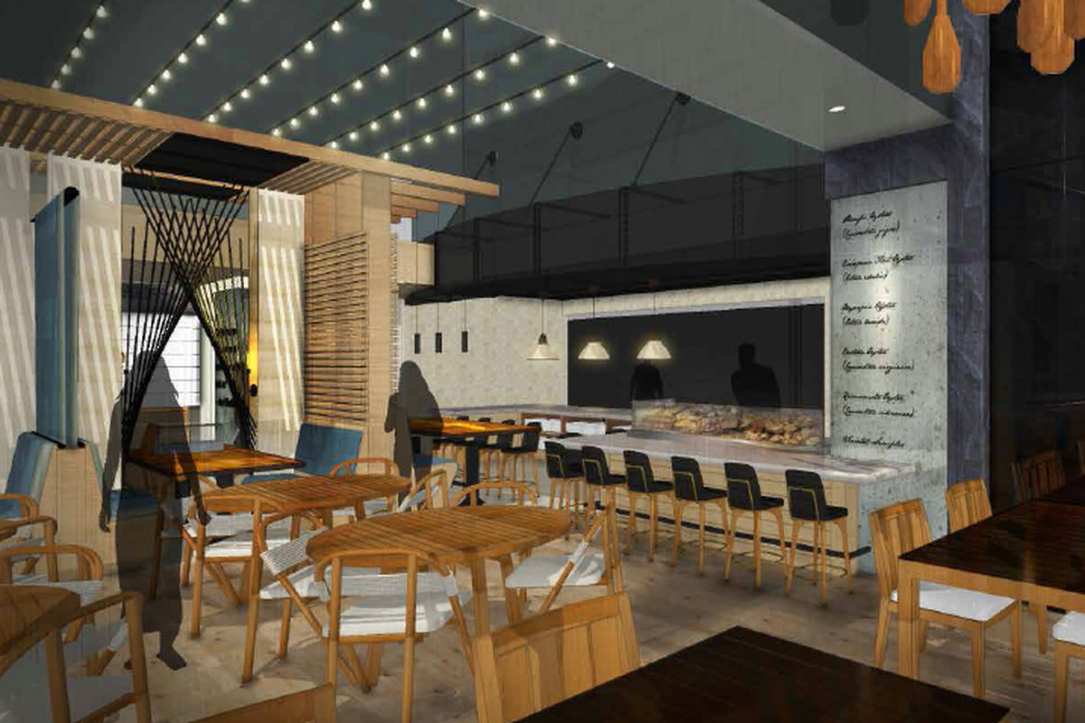 A rendering of Drift Fish House & Oyster Bar.