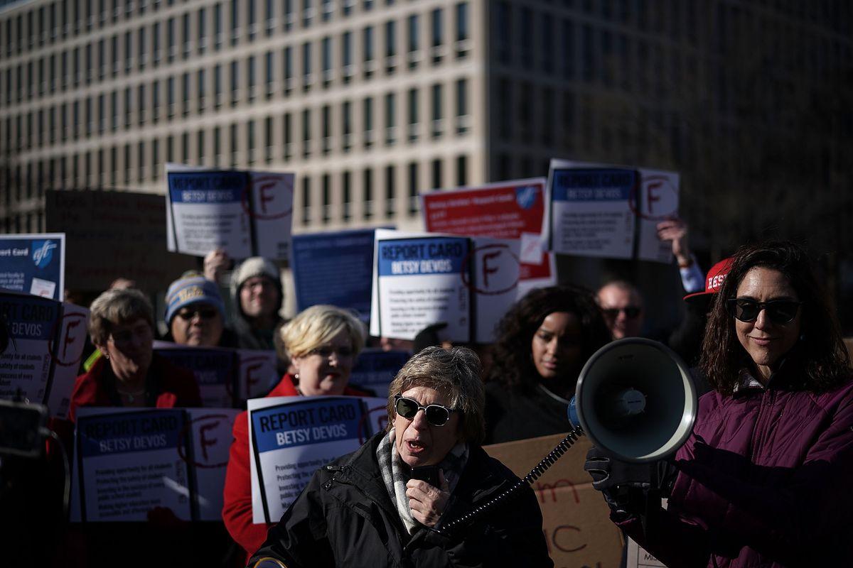 American Federation of Teachers President Randi Weingarten speaks in February.