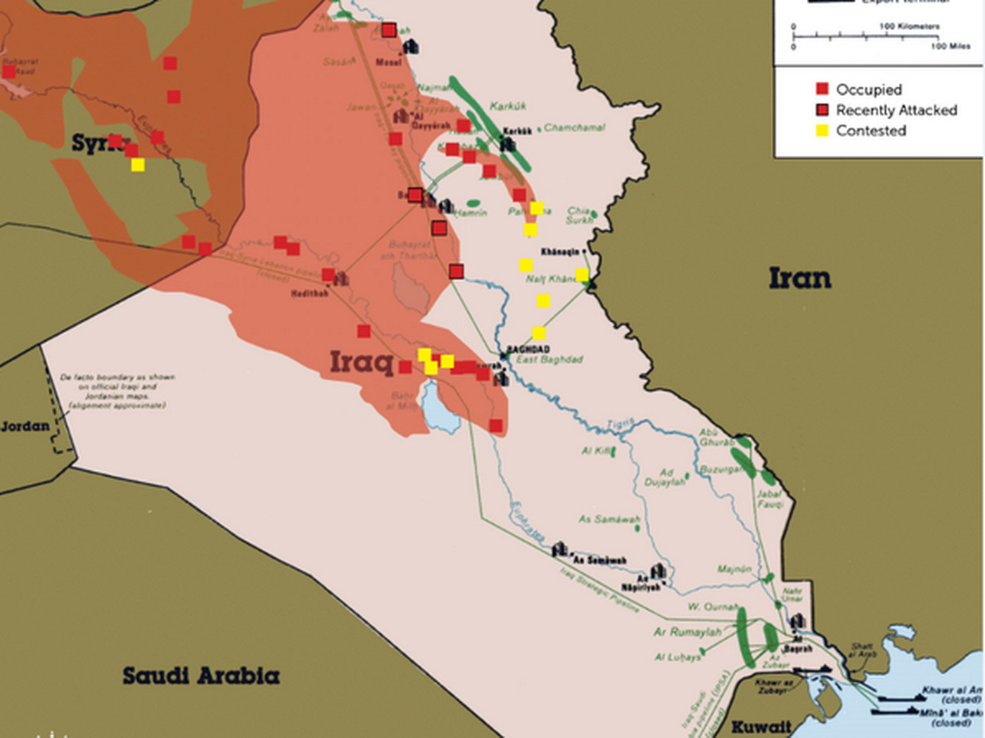 this map shows how violence in iraq could threaten the oil supply vox