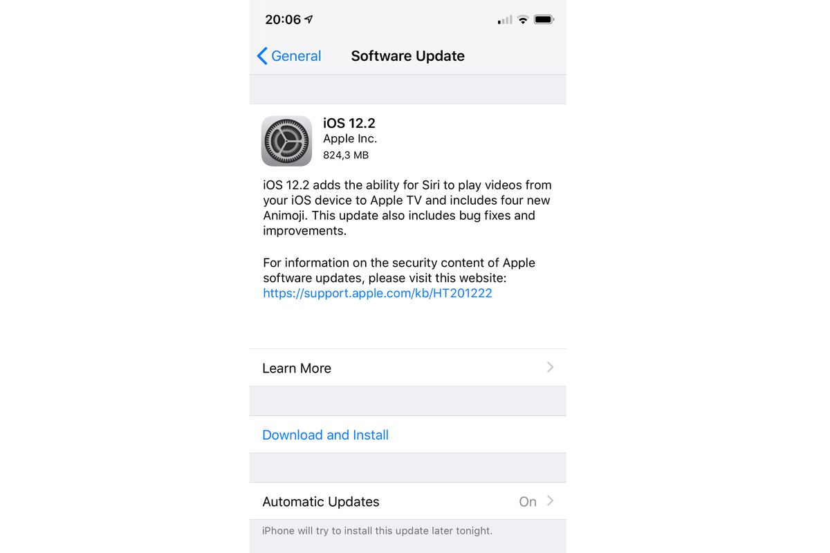 Apple iOS 12 2 updates are rolling out now - The Verge
