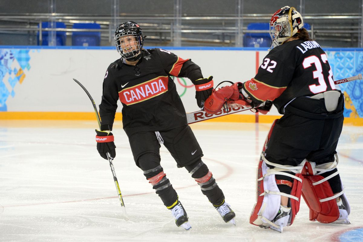 D Meaghan Mikkelson (left) is one of 33 players hoping to make the final roster for the Inferno. With 10 other members of Canada's national team doing the same, Calgary looks to be aiming for success straight out of the gate.