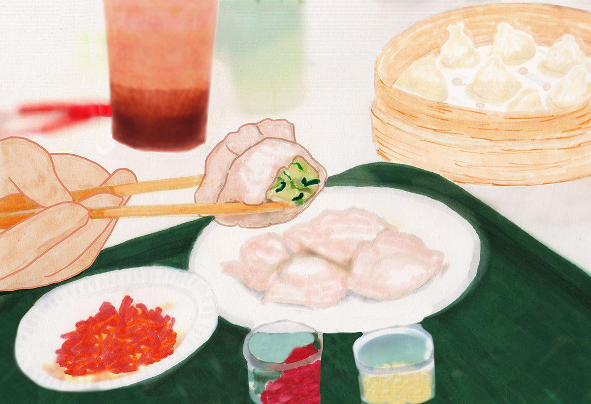 Dumplings at New World Mall