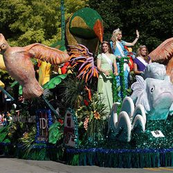 The Royalty Float wins the Queen's Award in the Days of '47 Parade in Salt Lake City on Saturday.