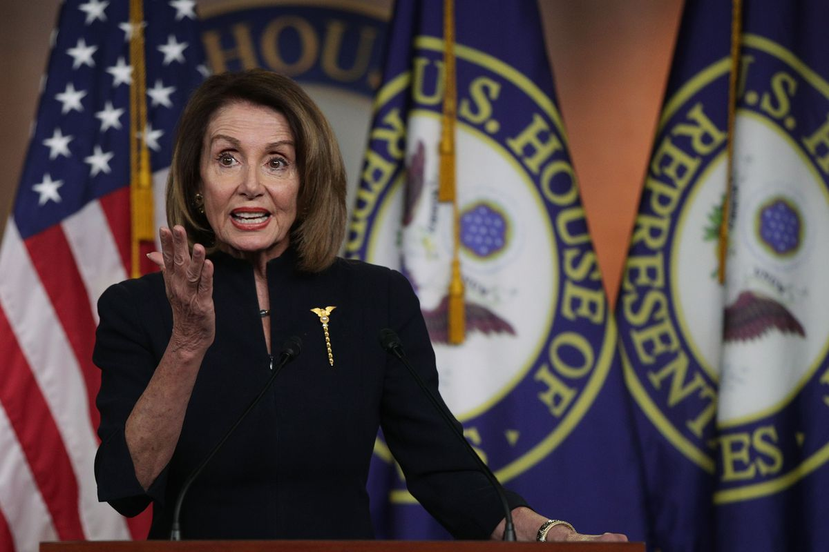 Image result for pelosi speech national emergency