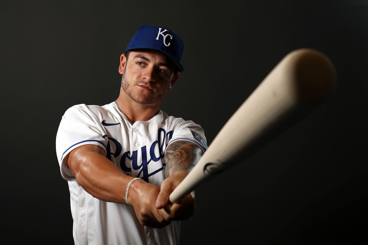 Brett Phillips #14 of the Kansas City Royals poses during Kansas City Royals Photo Day on February 20, 2020 in Surprise,