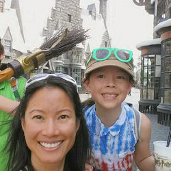 A fruitful day of butterbeer and broom shopping in Hogsmeade