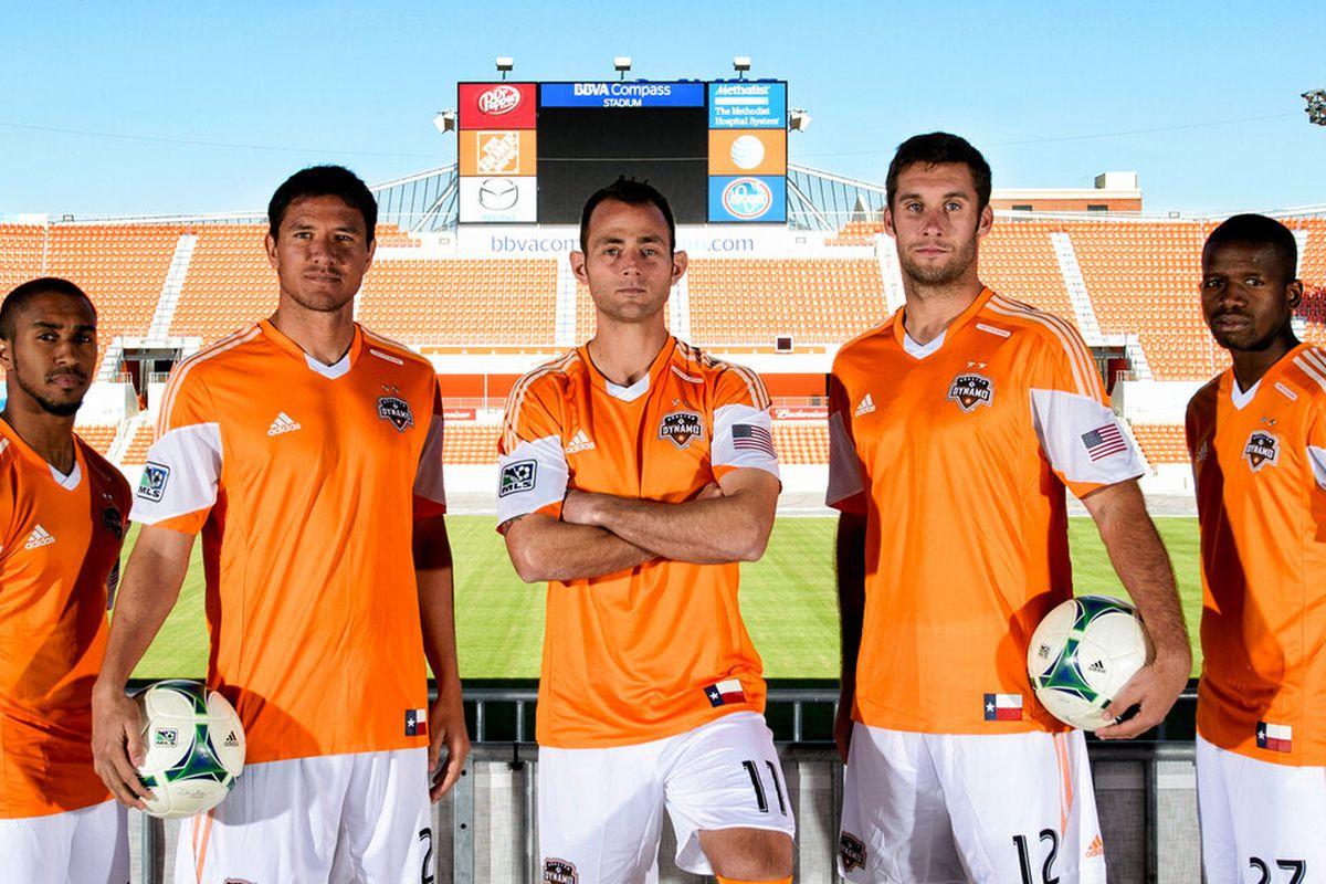New Houston Dynamo 2013-14 Home Jerseys - HoustonDynamo.com