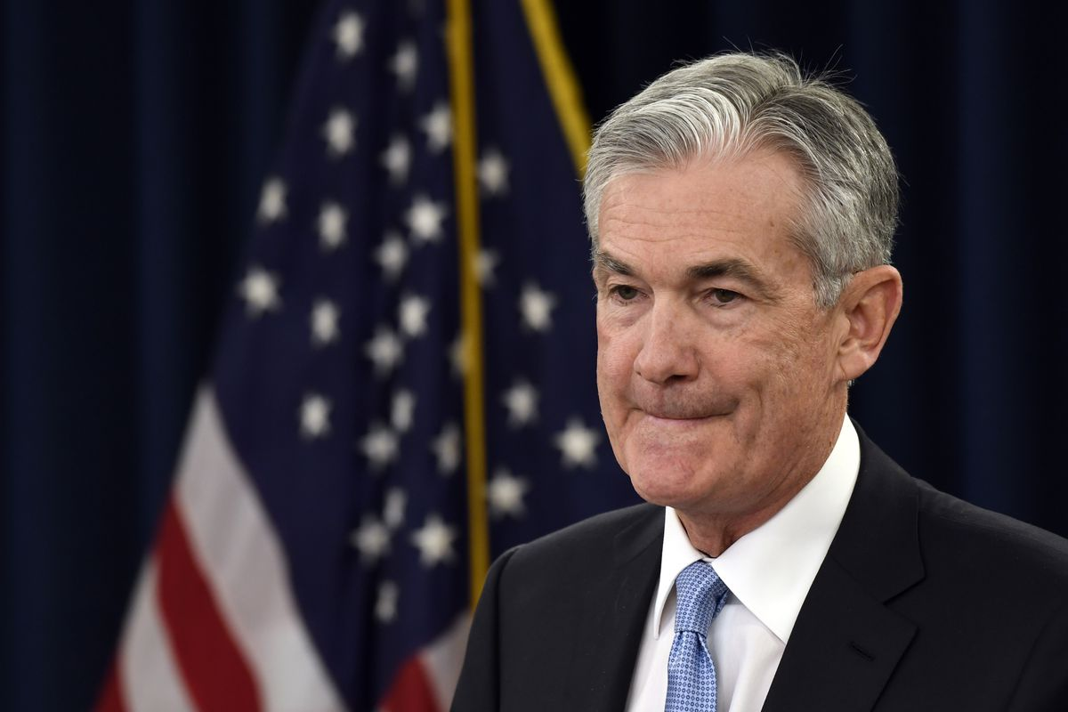 Federal Reserve Chair Jerome Powell listens to a reporter's question during a news conference in Washington, Wednesday, March 20, 2019. (AP Photo/Susan Walsh)