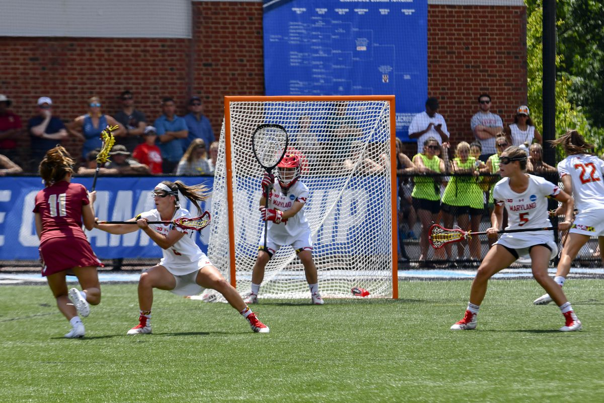 Maryland women's lacrosse defense Megan Taylor vs. Boston College