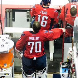 Holtby Stands Behind Bench