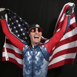 U.S. Olympic Winter Games nordic combined hopeful Bryan Fletcher poses for a portrait at the 2017 Team USA media summit Wednesday, Sept. 27, 2017, in Park City, Utah. (AP Photo/Rick Bowmer)