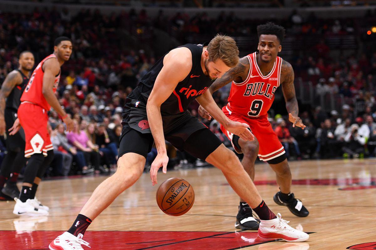 NBA: Portland Trail Blazers at Chicago Bulls
