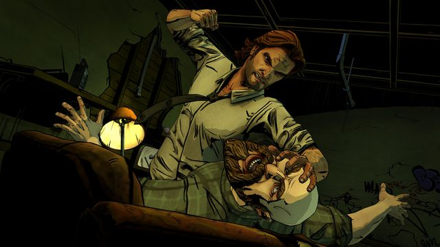 A scene from the debut episode of <em>The Wolf Among Us</em>.