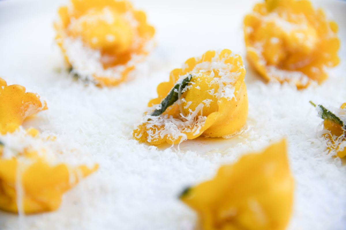 Ricotta and spinach cappalletti with sage brown butter from new Sandy Springs Italian restaurant Tre Vele.