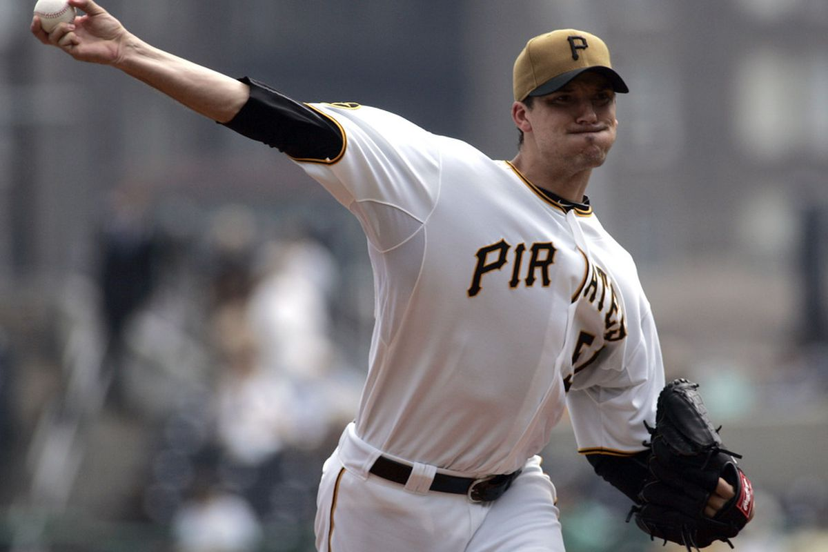 PITTSBURGH, PA - SEPTEMBER 14:  Charlie Morton #50 of the Pittsburgh Pirates pitches against the St. Louis Cardinals during the game on September 14, 2011 at PNC Park in Pittsburgh, Pennsylvania.  (Photo by Justin K. Aller/Getty Images)