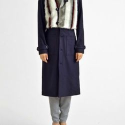 """Rodebjer Acra wool faux fur coat, <a href=""""http://www.shopbird.com/product.php?productid=30133&cat=768&manufacturerid=&page=1"""">$379</a> (from $625)"""