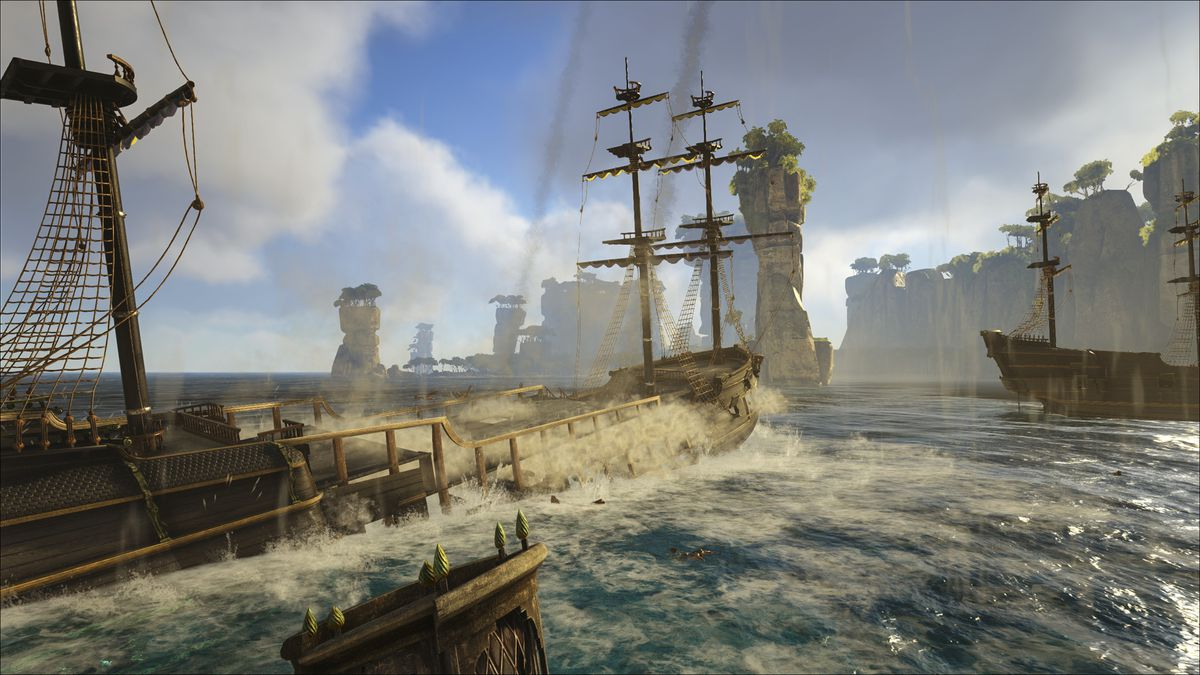 Atlas is a pirate MMO played by thousands but the battlefield is