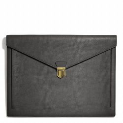 """<strong>Coach</strong> Crosby New Portfolio in Sharkskin Box Grain Leather, <a href=""""http://www.coach.com/online/handbags/Product-crosby_new_portfolio_in_box_grain_leather-10551-10051-66000-en?searchKeyword=portfolio"""">$348</a>"""