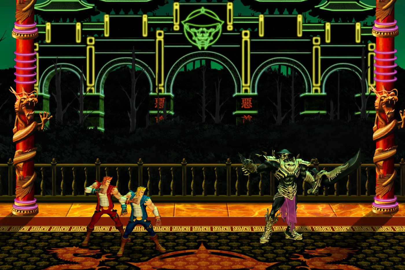 Double Dragon Neon Launching Today On Steam With Online Co Op