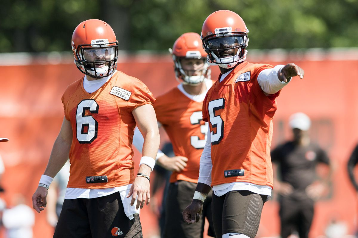 fa9eac1a Tyrod Taylor & Baker Mayfield have a secret Browns QB clubhouse in ...