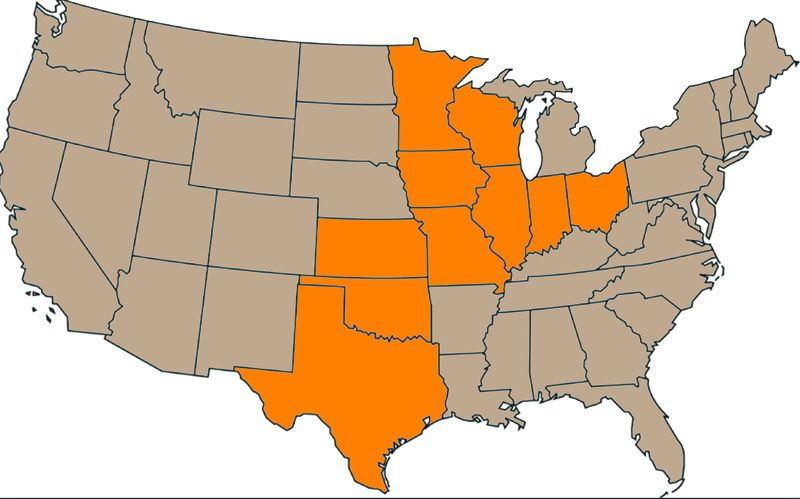 The U.S. Department of Agriculture's Natural Resources Conservation Service will invest $4 million in 2016 in these 10 states to help combat the decline of the monarch butterfly.