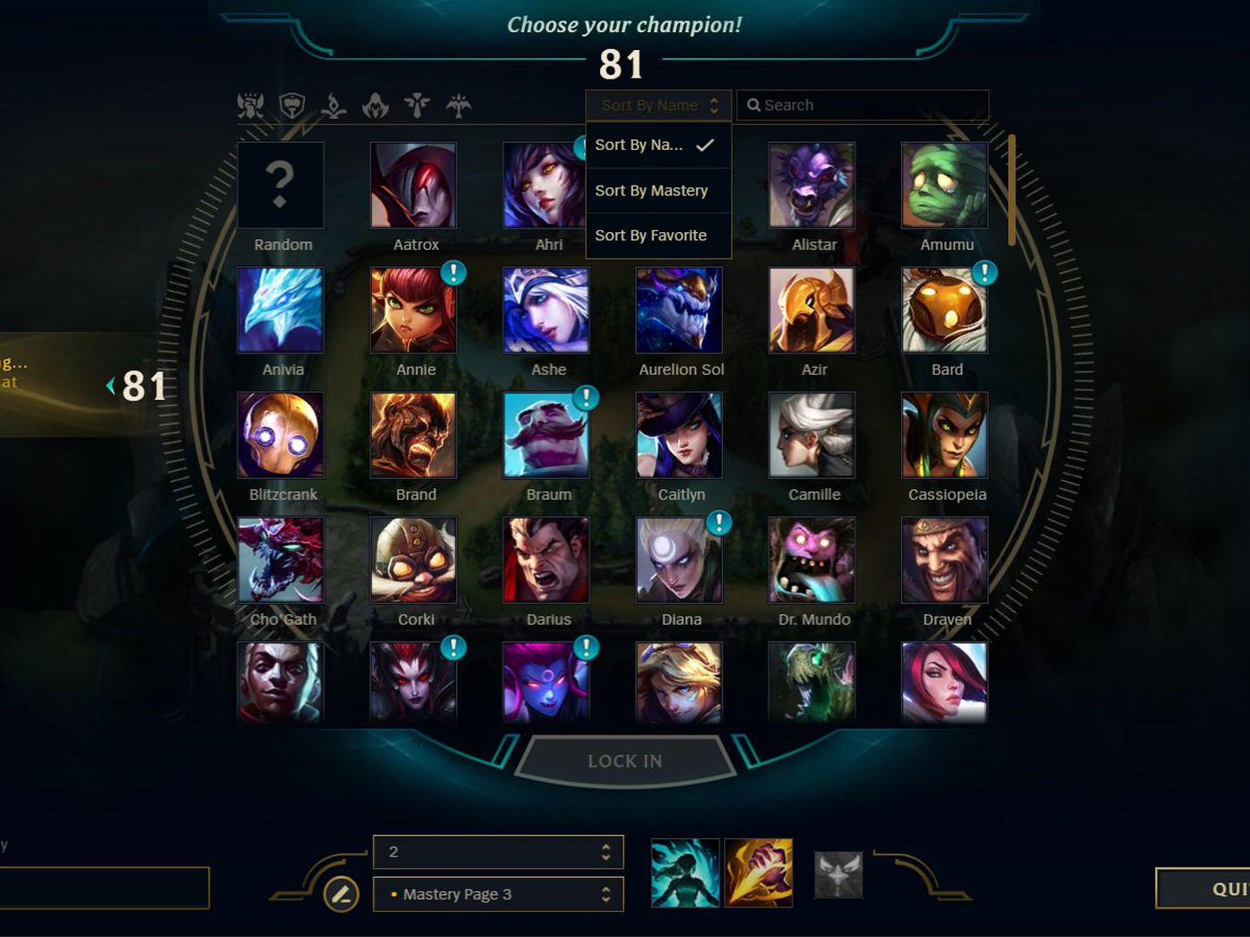 Champion Select Will Let You Organize Your Champs Soon The Rift Herald