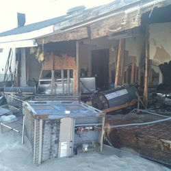 What remains of the BayHouse's kitchen