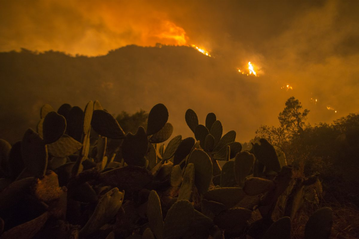 The california fires were at my door i had 20 minutes to pack the thomas fire approaches homes in montecito california on december 12 2017 david mcnewgetty images aiddatafo Gallery