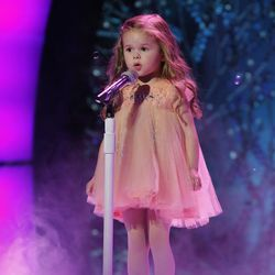 """Claire Crosby performs on NBC's """"Little Big Shots."""""""