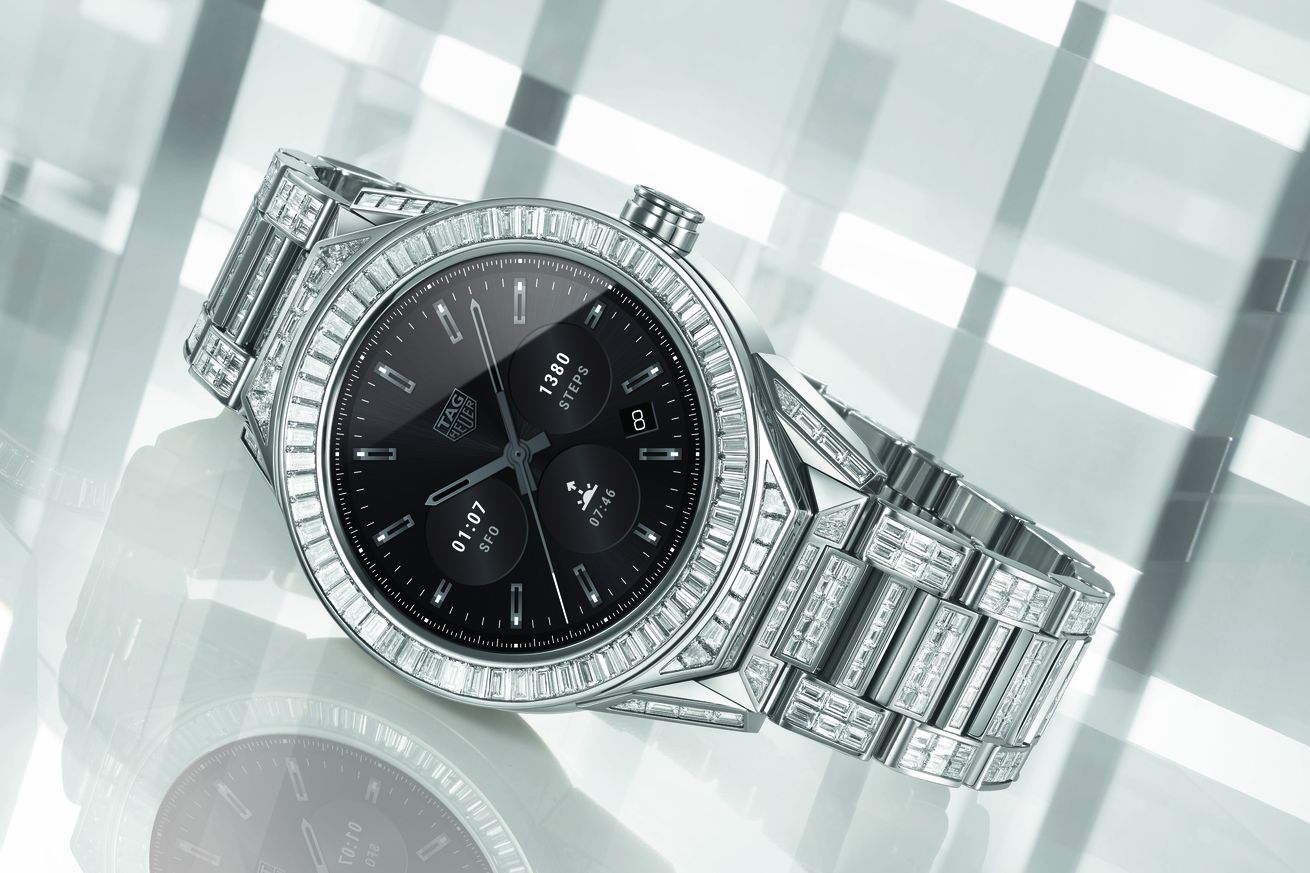 not even 197 000 of diamonds can save this tag heuer smartwatch from android wear
