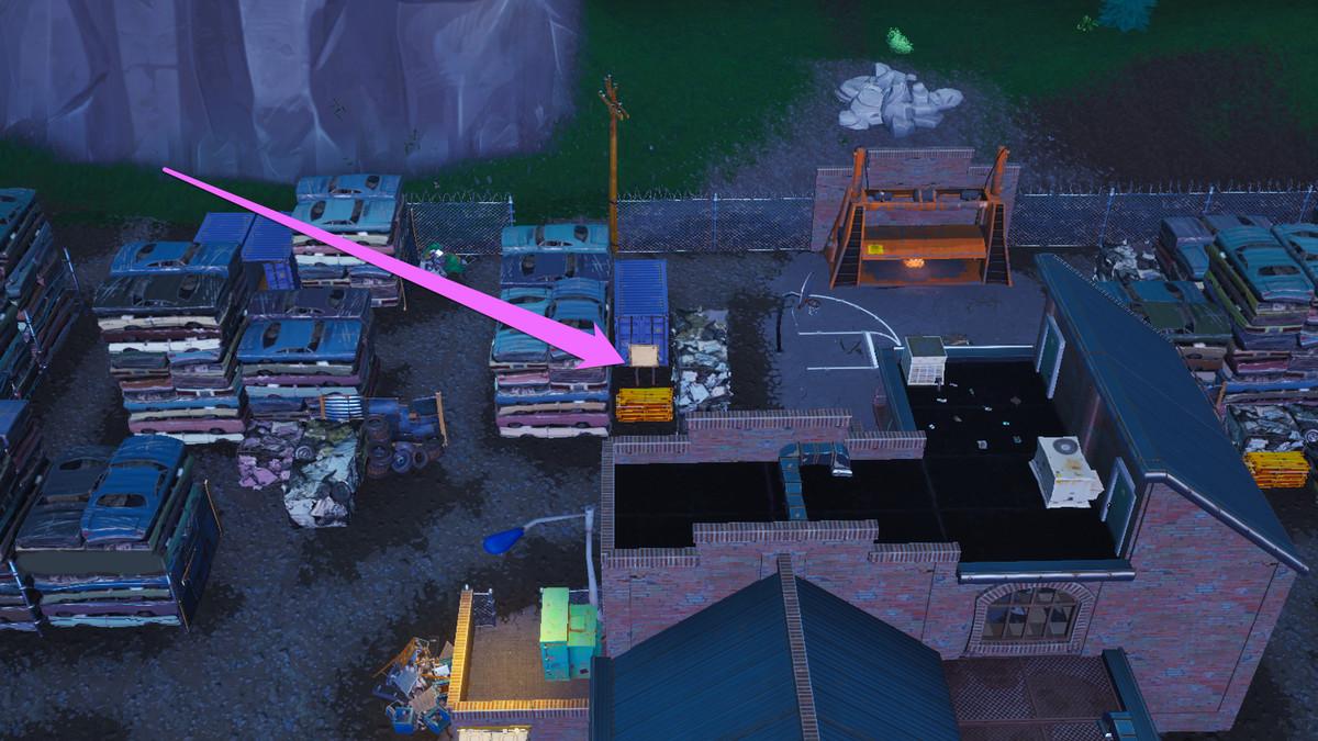 fortnite junk junction s treasure map location - fortnite season 8 week 10 challenges map