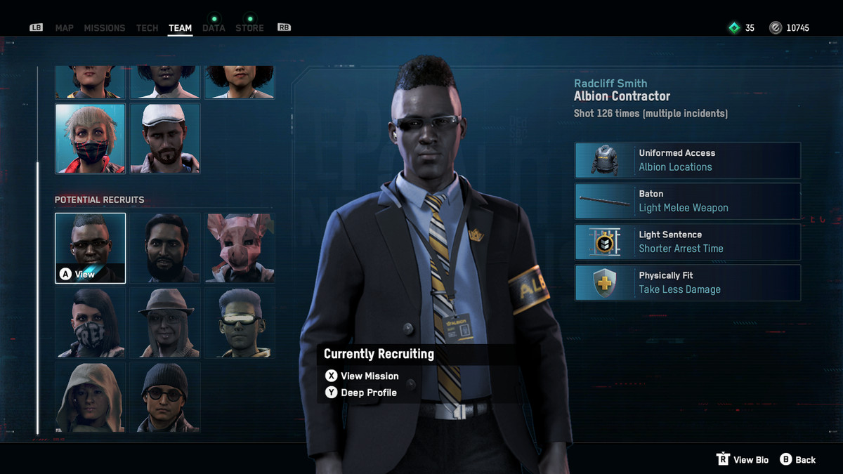 Albion officer character Watch Dogs: Legion