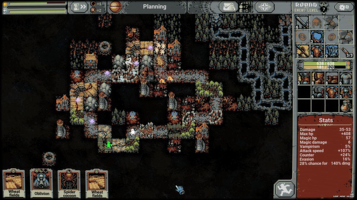 A created world in Loop Hero
