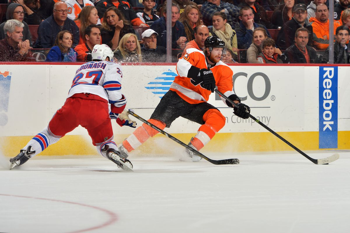 One of the many times Voracek beat McDonagh wide and set up possession in the offensive zone.