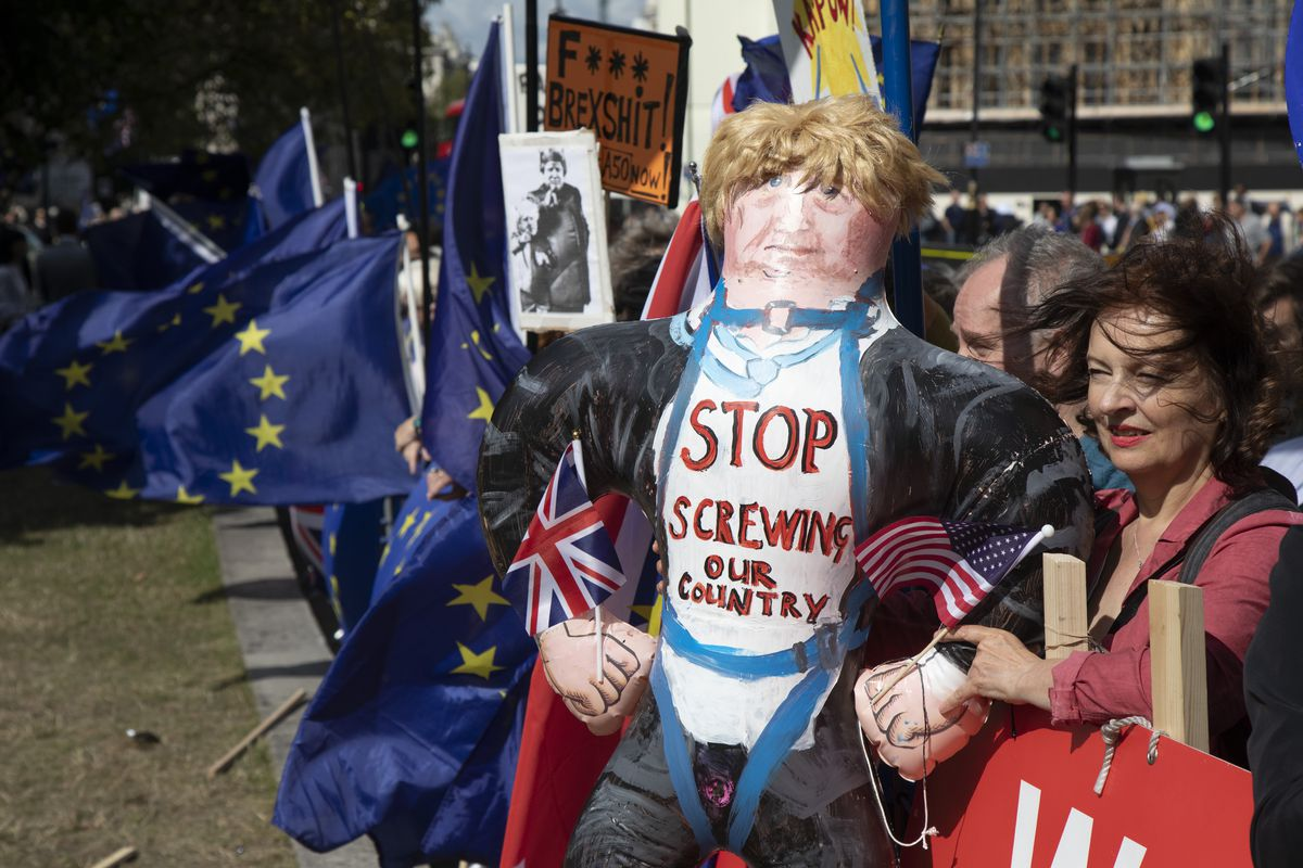 Brexit Protest In Westminster