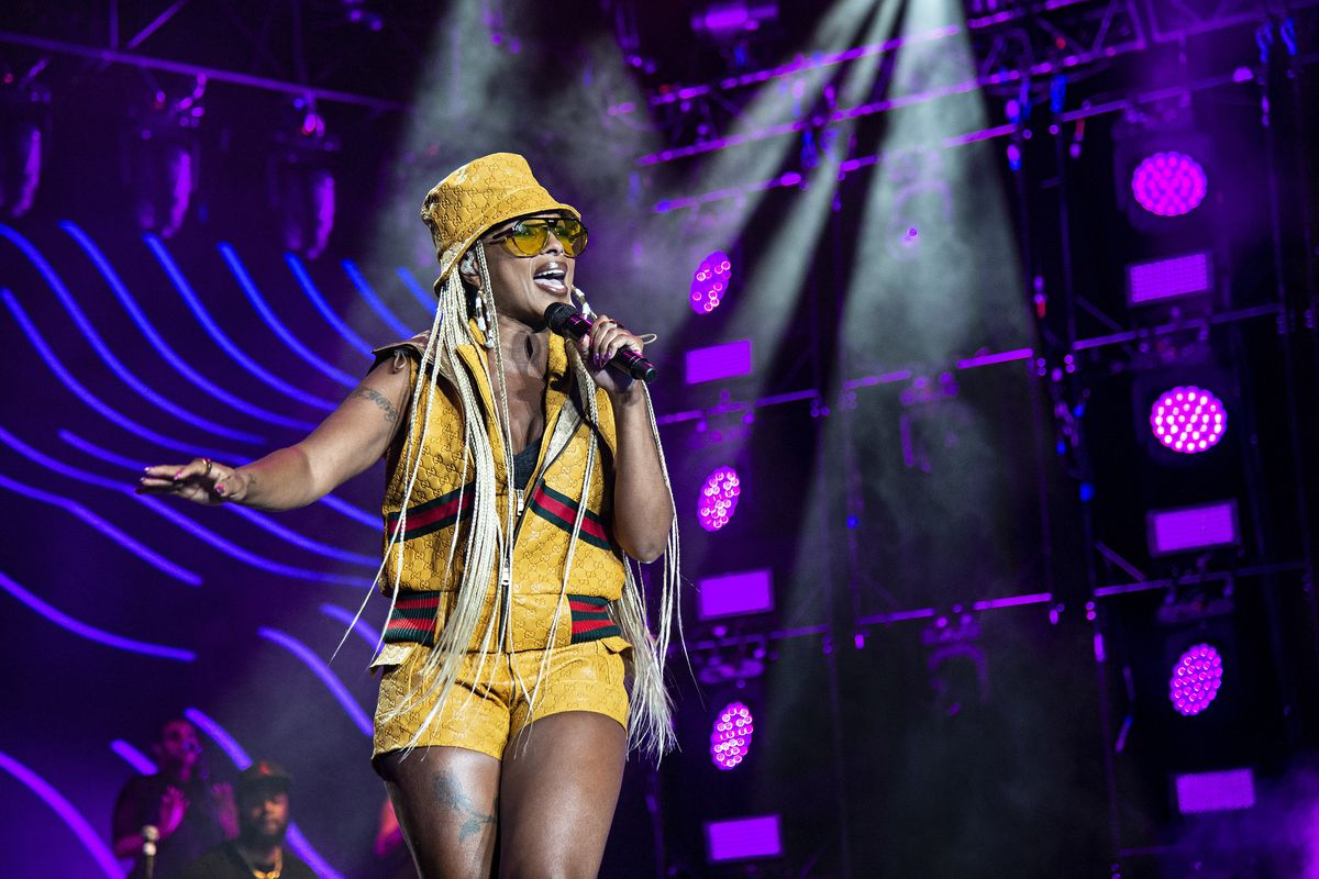 Mary J. Blige at the 2018 Essence Festival at the Mercedes-Benz Superdome in New Orleans.