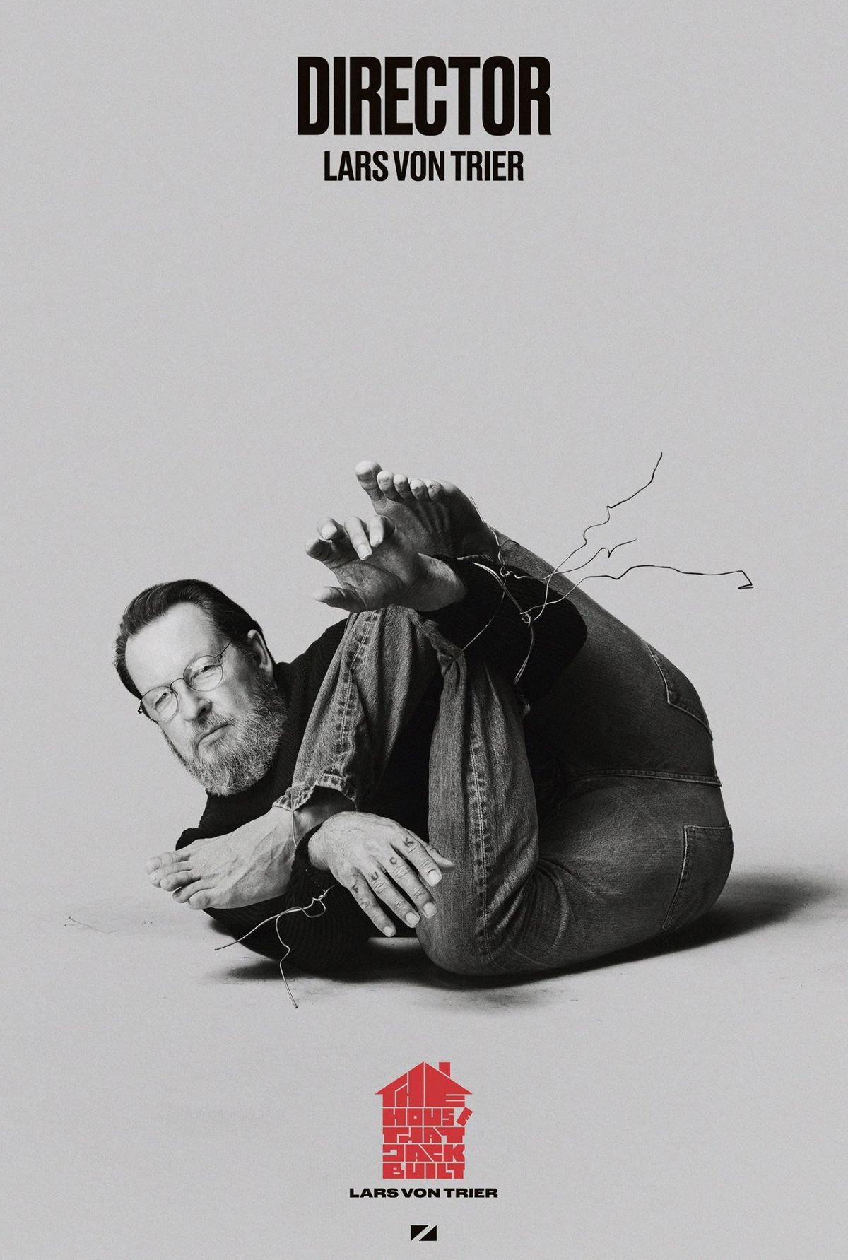 Von Trier on a poster for The House That Jack Built.