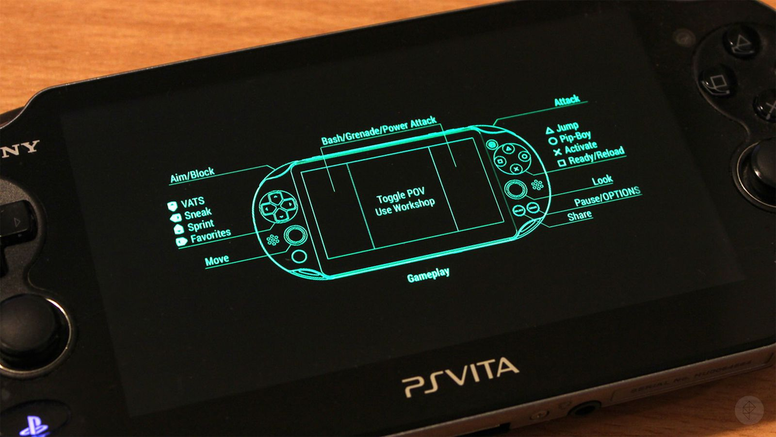 fallout 4 39 s control scheme for playstation vita is pretty. Black Bedroom Furniture Sets. Home Design Ideas