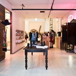 """<b>↑</b> You can feel good about shopping at <a href="""" http://thereformation.com/""""><b>The Reformation</b></a> (156 Ludlow Street): the boutique concentrates on sustainability. Its modern yet romantic designs are It girl-esque with a subtly dark vibe, and"""