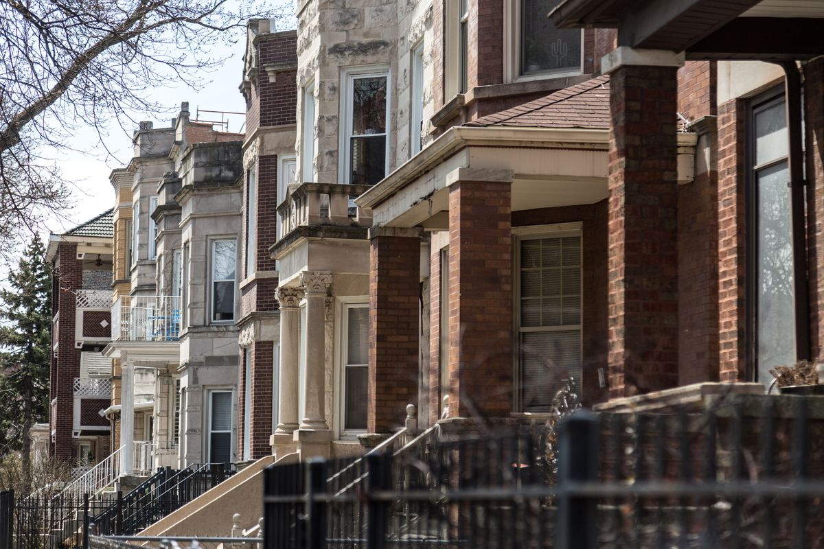Homes in the Logan Square neighborhood in 2018.