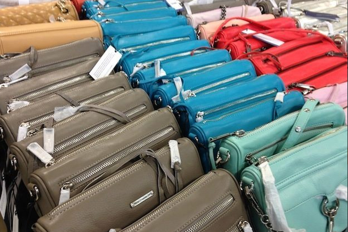 """Bags on bags on bags at last spring's <a href=""""http://ny.racked.com/archives/2014/05/05/rebecca_minkoff_sample_sale_4.php"""">sample sale</a>"""