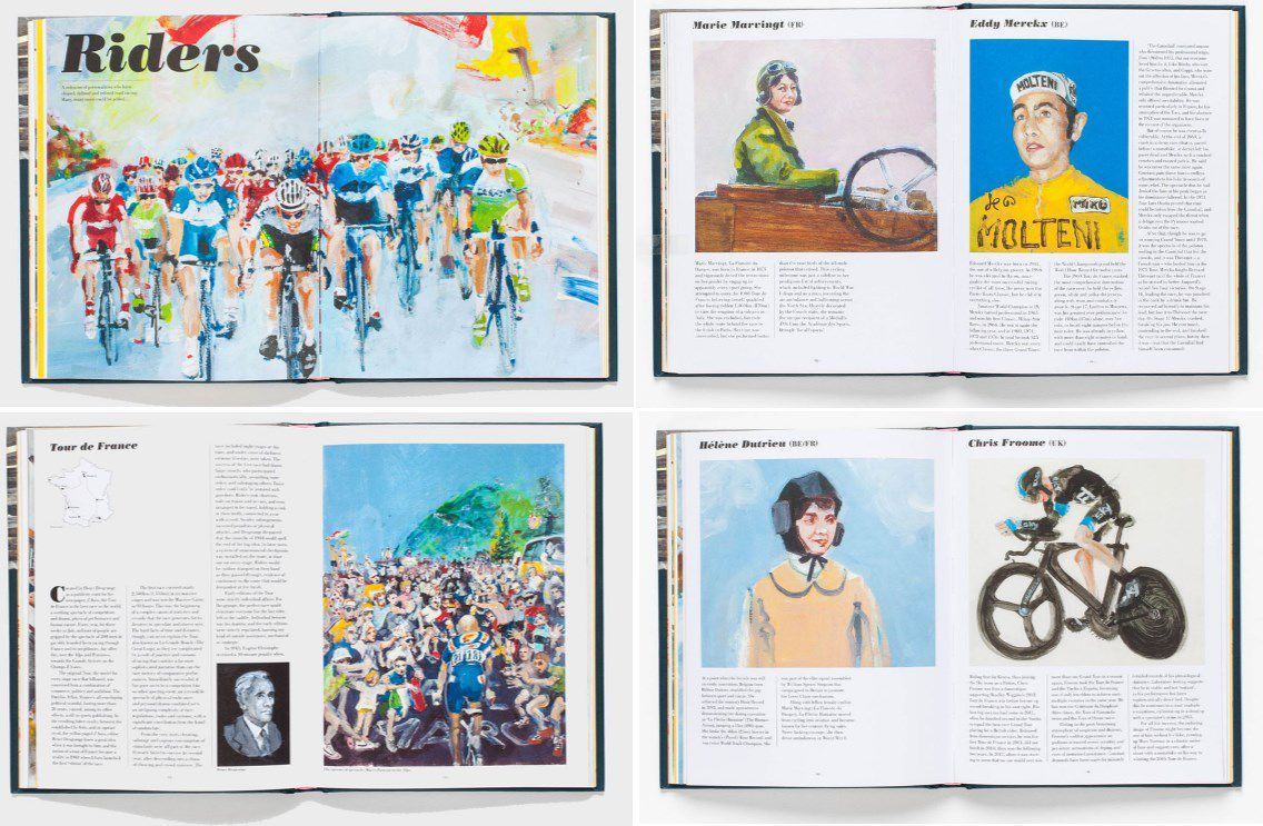 A selection of the riders profiled in 'Racing Bicycles'